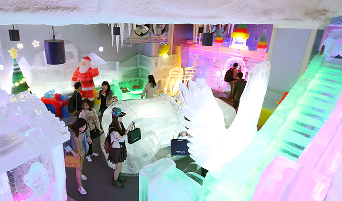 The Ice Museum is another must-see attraction at the Trickeye Museum. (photo: Jeon Han)