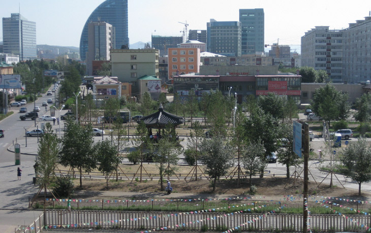 Seoul Street located in central Ulaanbaatar, Mongolia (photo courtesy of Seoul Metropolitan Government).