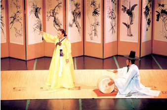 Pansori - A genre of musical story-telling, performed by a vocalist with drum accompaniment.