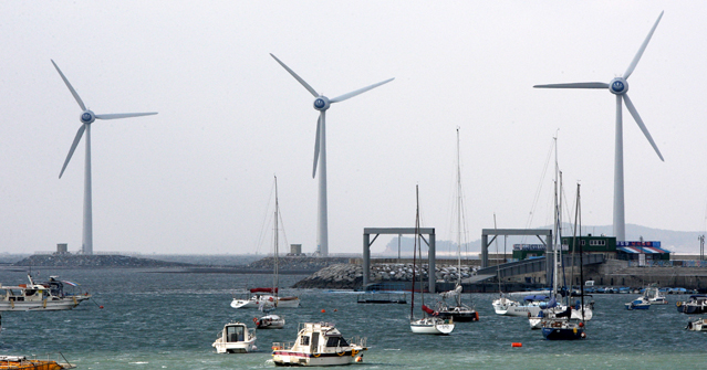 In 2009, Korea's first offshore wind energy power generators were built in Ansan, Gyeonggido