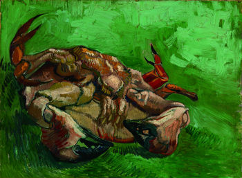 """A Crab on its Back,"" Oil on Canvas, 38.0x47.0cm, January-February 1889, Arles, Van Gogh Museum (Vincent Van Gogh Foundation), Amsterdam / ⓒ 2012 Van Gogh Museum, Netherlands"