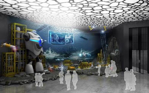 A mock-up of the DSME Marine Robot Pavilion