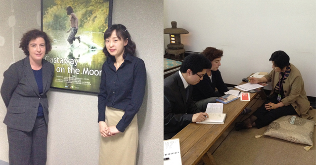 Humphreys met with Jeon Yoon-hyung from KOFIC (left) and Lee Hyae-kyoung from WFFIS (right).