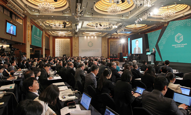 The Global Green Growth Summit 2012 was held in May in Seoul, Korea
