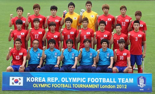 Korean team to start off this year's Olympic journey will be the football team