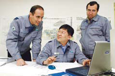 A heavy industry training center teaches foreign engineers about power station construction and operation