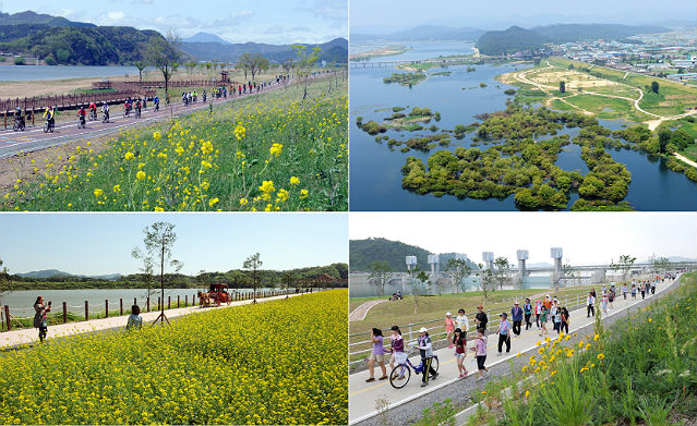 An exhibition featuring a selection of riverside photography opened on July 20 at Nakdonggang Culture Center and will travel to eight weirs of the Nakdong River through August 26 (photos courtesy of K-water).