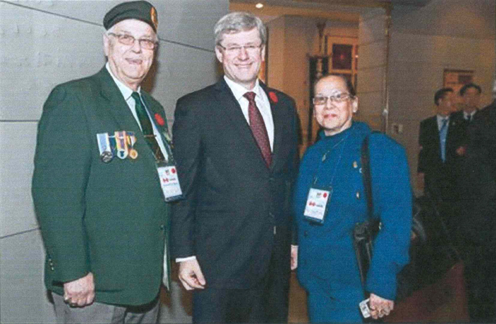Jean Pierre Van Eck and his wife May Van Eck meet with Canadian Prime Minister Stephen Harper in Canada in 2010 (photo courtesy of Jean Pierre Van Eck).