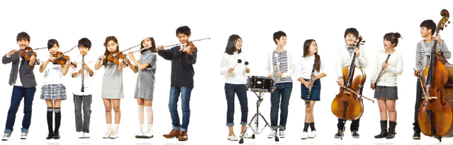 Sejong Cultural Center organized the Sejong Youth Harmony Orchestra last year in order to provide music education to children from multicultural families. The 50 members of the orchestra, who recommended by 88 children's centers across Seoul and passed auditions, are growing their dream of becoming musicians. (photo courtesy of Sejong Cultural Center).