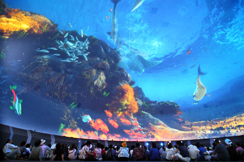 world's largest and highest-quality dome-screen in Korea Pavilion