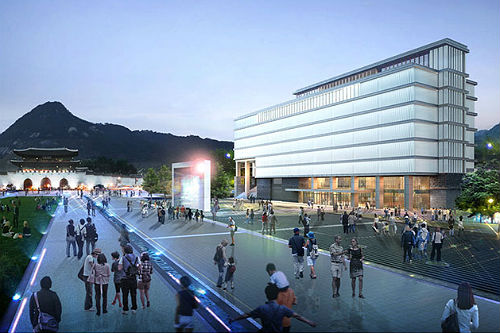 The National Museum of Korean Contemporary History seen from Gwanghwamun Square (image courtesy of the Committee for the Establishment of the National Museum of Korean Contemporary History)