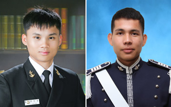 From left: Vu Dinh Thuc (photo courtesy of the Korea Naval Academy), Thawatchai Thonsangkaew (photo courtesy of the Korea Air Force Academy)