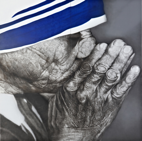 Korean artist Kang Hyung-koo's portrait of Mother Teresa (photo courtesy of Standard Chartered in Korea)