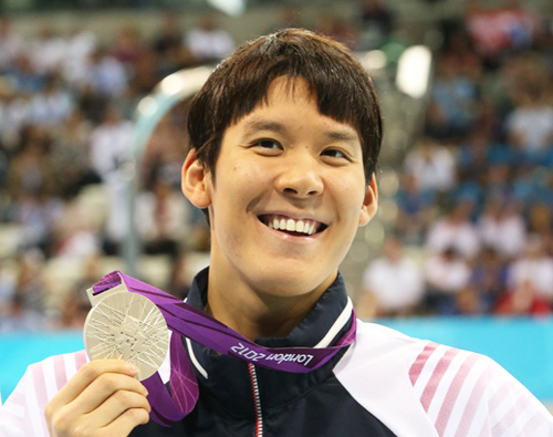 On July 30 (Korean Time), Korean swimmer Park Tae-hwan picked up silver in the 200-meter freestyle with a time of 1 minute and 44.93 seconds (photo: Yonhap News).