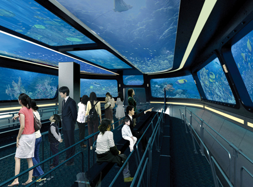 The Expo Digital Gallery is the world's first marine culture and arts gallery, with interactive digital media shows displayed on its LED screens