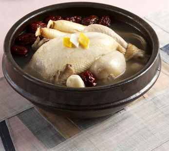 Samgyetang (photo courtesy of the Institute of Traditional Korean Food).