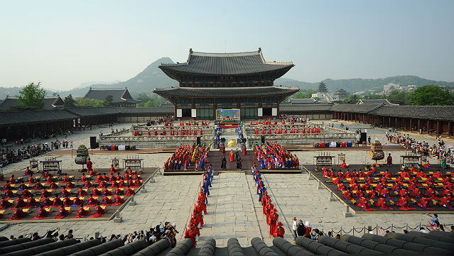 A celebration of the 615th anniversary of the birth of King Sejong took place on May 12 and 13 in Gyeongbokgung Palace (photo courtesy of the National Gugak Center).