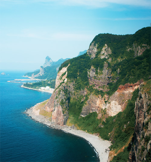 Ulleungdo is a volcanic island located to the east of the Korean Peninsula.