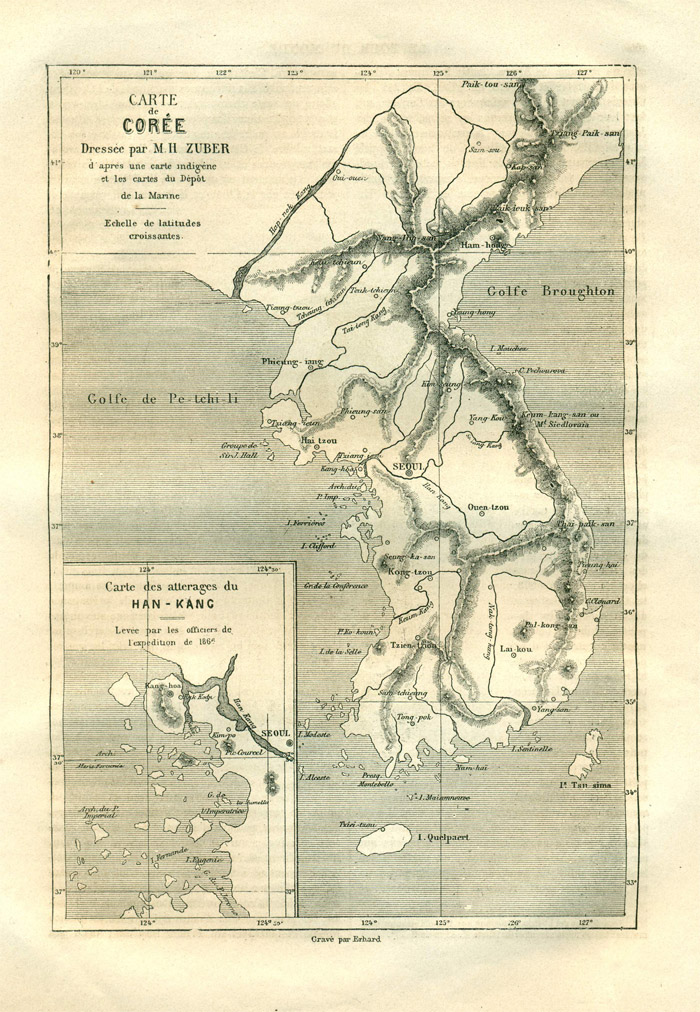 A map of Korea published in in the periodical <i>Le Tour du monde </i>
