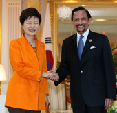 President Park holds summit with Sultan of Brunei