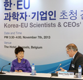 President Park meets scientists, business leaders in Belgium