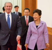 President Park meets with former U.S. President Bush