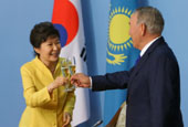 President Park holds summit with Kazakhstani leader