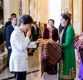 President Park pays state visit to Turkmenistan