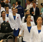 North Korean athletes arrive for Incheon Asian Games