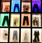Denim jeans seen as art