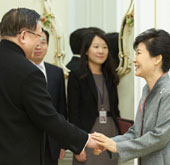 President Park meets former Chinese foreign minister
