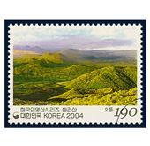Korean mountains via stamps -- Jeju's oreum