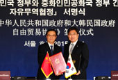 Korea, China officially sign FTA