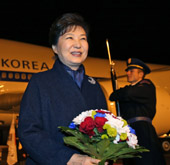 Park arrives in Czech Republic for summits with regional leaders