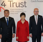 Park, leaders of Visegrad Group urge N. Korea to halt nuclear pro...