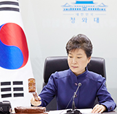 Park calls for strong U.N. sanctions on N. Korea