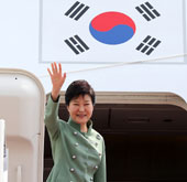 Park leaves for Iran for talks with Rouhani