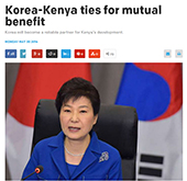 'Korea will become reliable partner for Kenya's development'