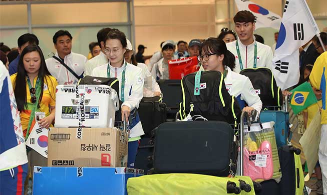 First batch of S. Korean Olympic delegation arrives in Rio