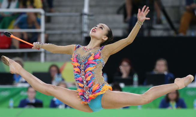 S. Korean rhythmic gymnast emotional after qualifying for 2nd straight Olympic final