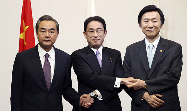 S. Korea, China, Japan vow to lead global efforts against N.K. provocations
