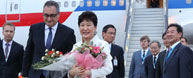 Park arrives in Russia for economic forum, summit with Putin