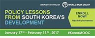 World Bank Group Launches a Free MOOC on Korea's Development Lessons
