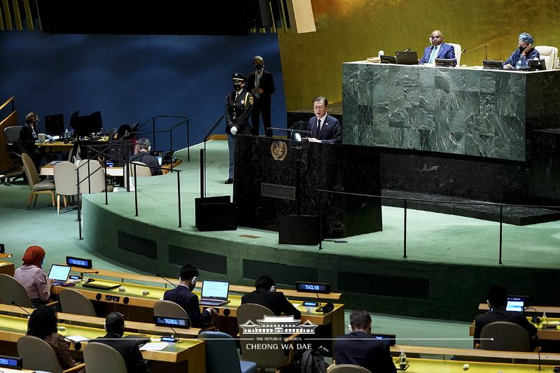keynote speech at the 76th United Nations General Assembly at U.N.