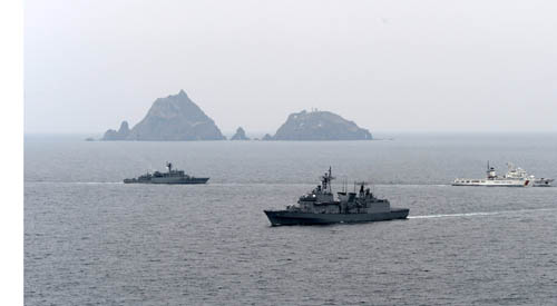 Naval drills take place off Dokd...