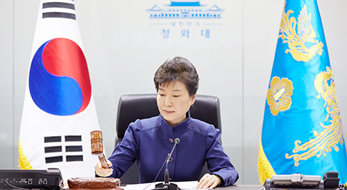 Park calls for strong U.N. sanct...